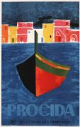 Vintage Travel Poster Procida-Naples